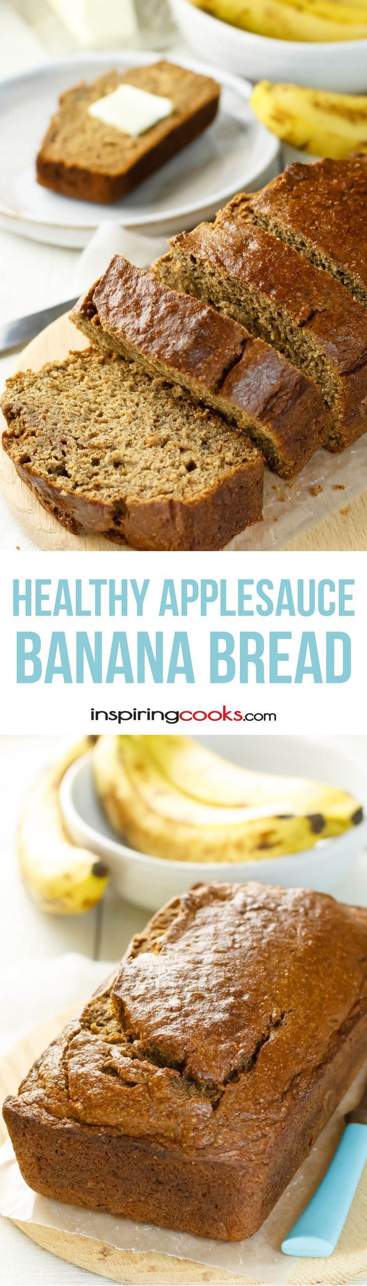 Healthy Banana Pumpkin Bread With Applesauce  Check out Healthy Banana Bread with Applesauce It s so