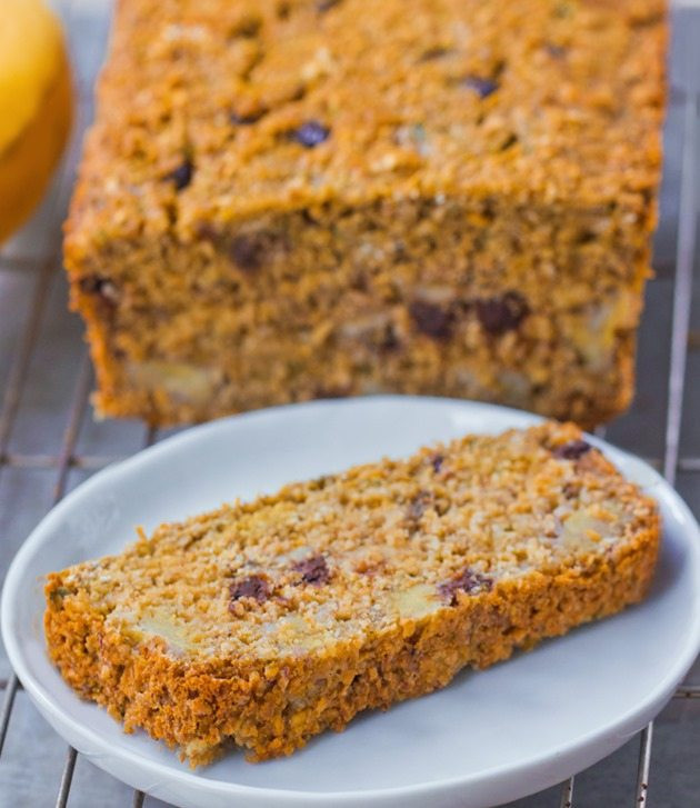 Healthy Banana Pumpkin Bread With Applesauce  Flourless Banana Bread No Refined Sugar
