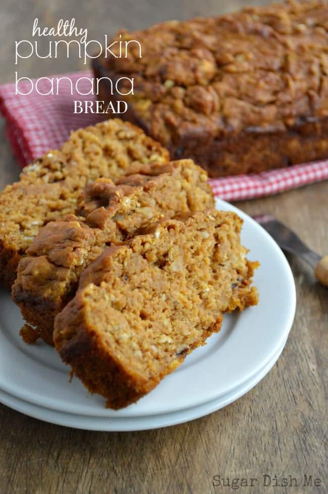 Healthy Banana Pumpkin Bread With Applesauce  healthy banana applesauce bread