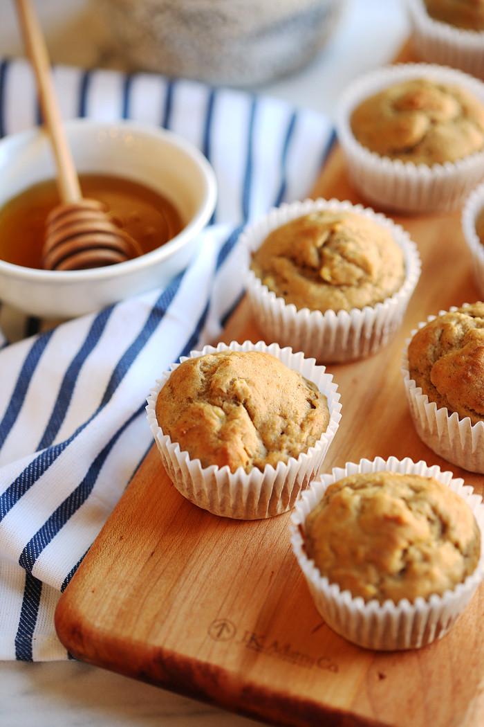 Healthy Banana Recipes For Breakfast  Banana Breakfast Muffins Eat Yourself Skinny