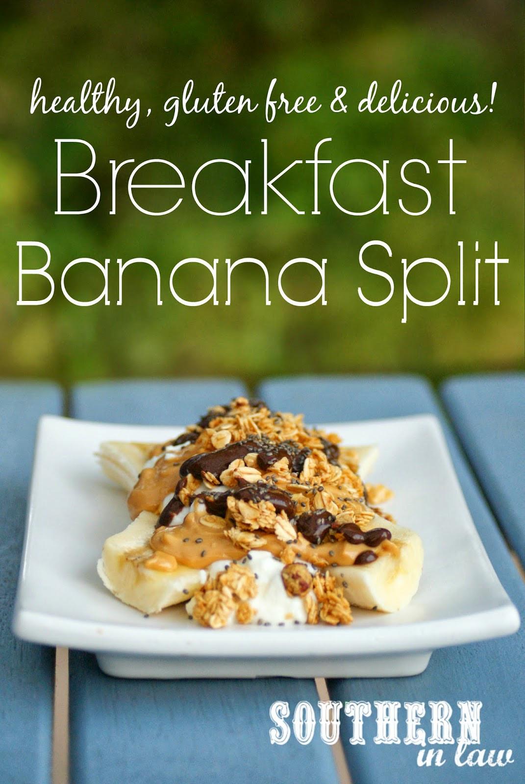 Healthy Banana Recipes For Breakfast  Southern In Law Recipe Breakfast Banana Split