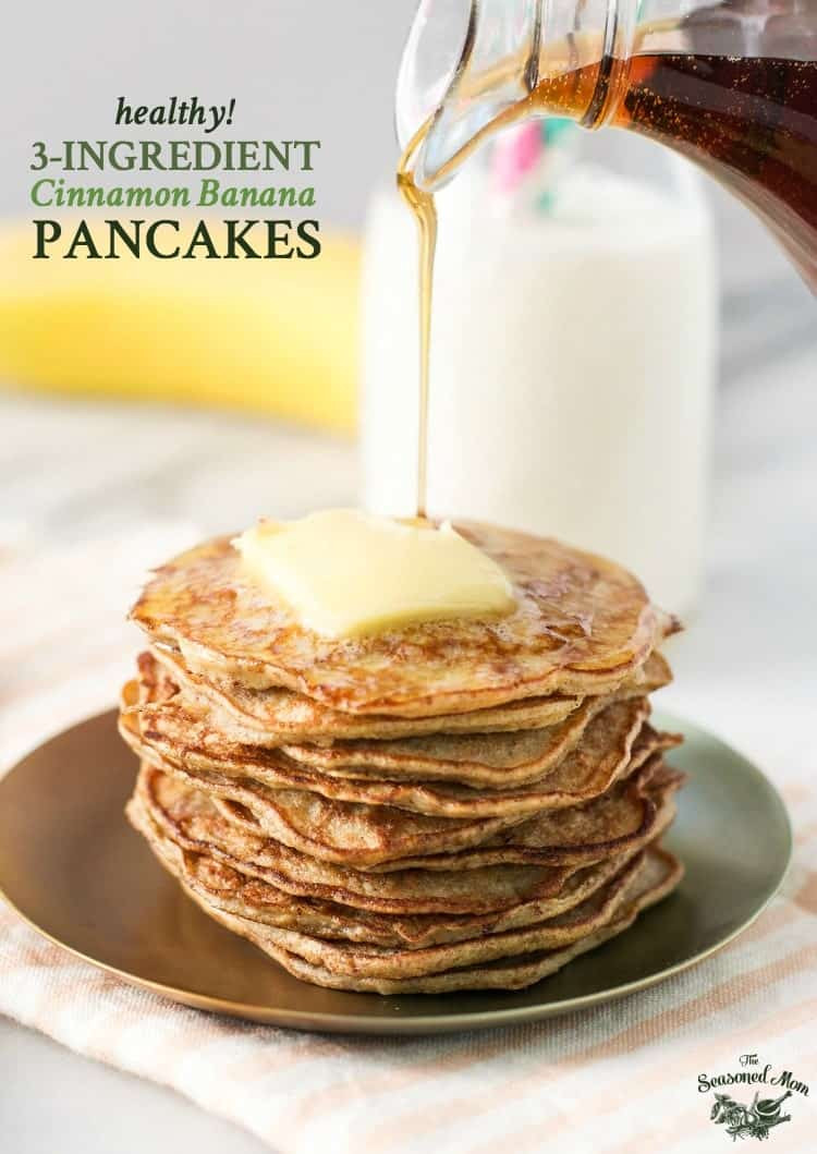 Healthy Banana Recipes For Breakfast  Healthy Banana Pancakes The Seasoned Mom