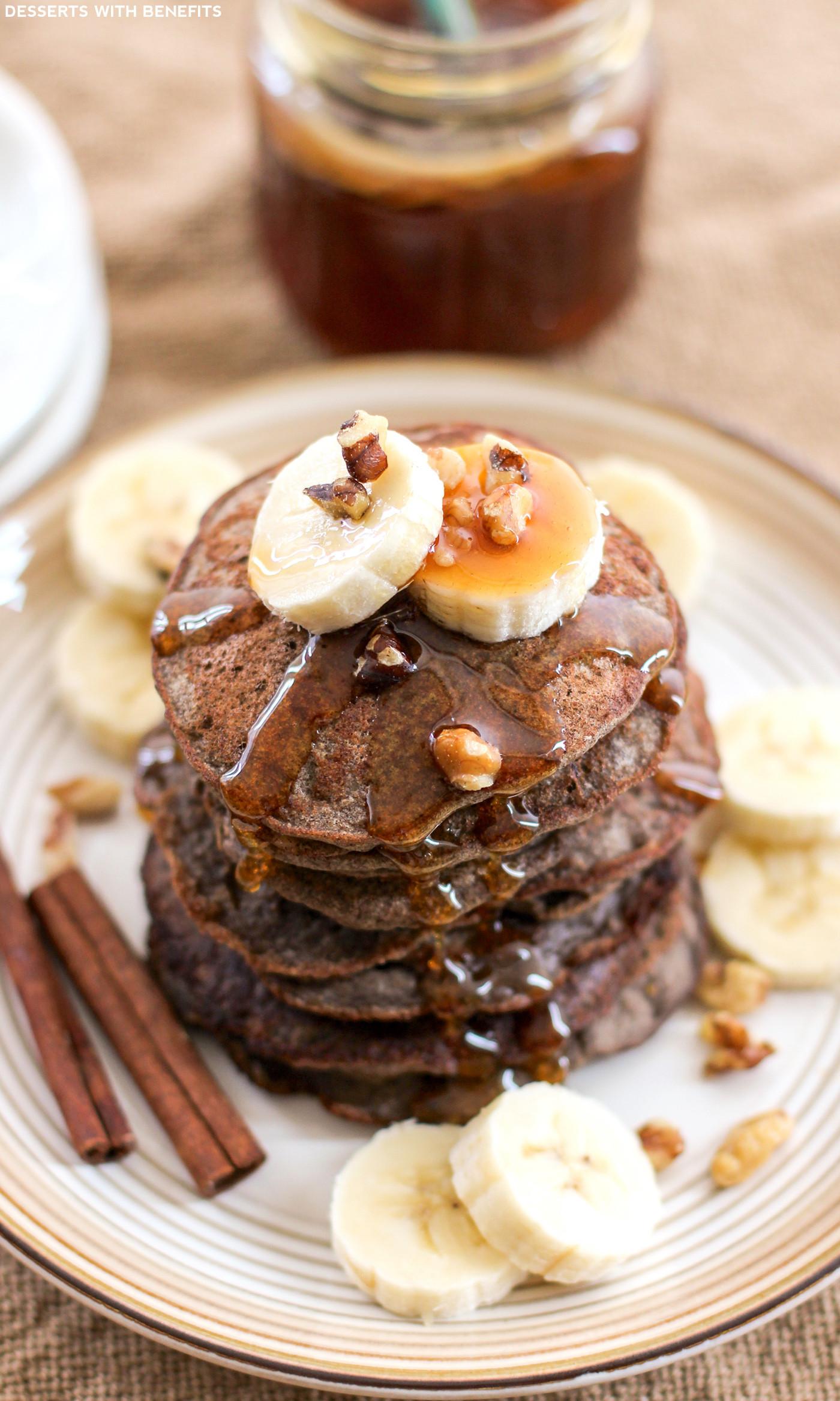 Healthy Banana Recipes  Healthy Banana Buckwheat Pancakes Recipe low fat gluten