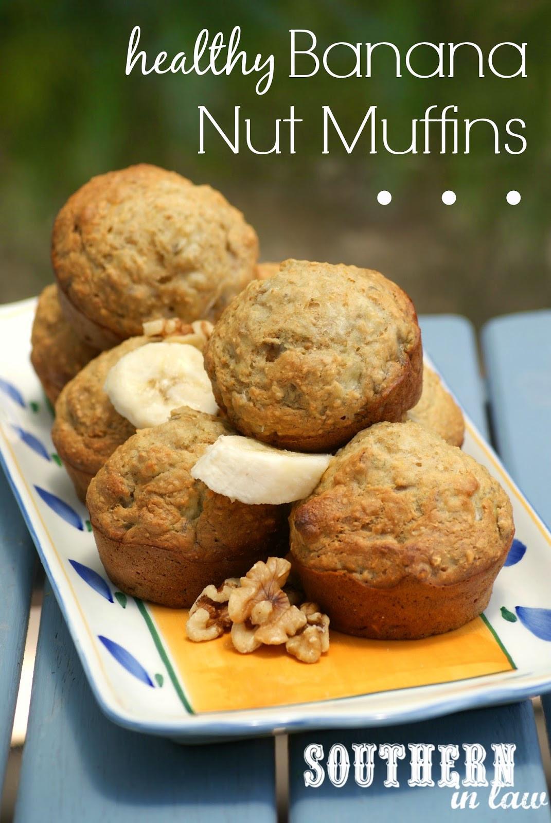 Healthy Banana Recipes  Southern In Law Recipe Healthy Banana Nut Muffins