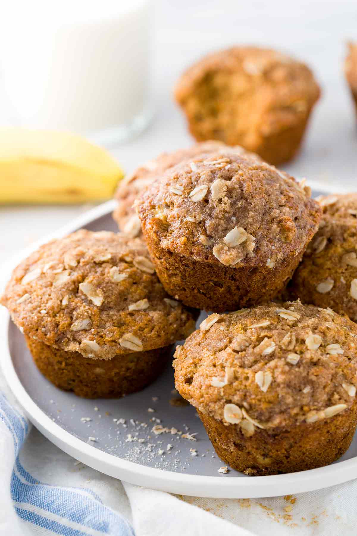 Healthy Banana Recipes  Healthy Banana Muffins with Old Fashioned Oats