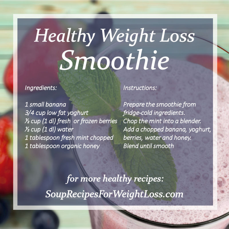 Healthy Banana Smoothie Recipes For Weight Loss  Best Weight Loss Smoothie Recipes