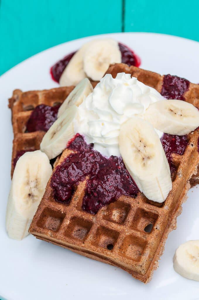 Healthy Banana Waffles  Vegan Banana Waffles Vegan Family Recipes