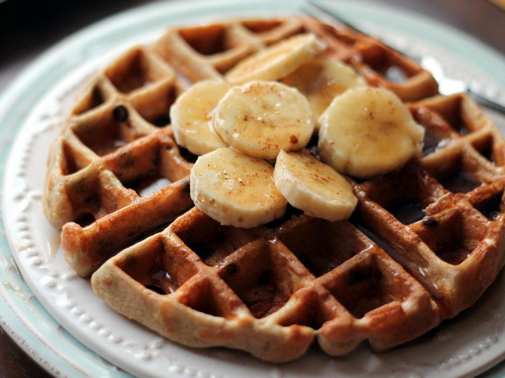 Healthy Banana Waffles  Banana Chocolate Chip Quinoa Flour Waffles