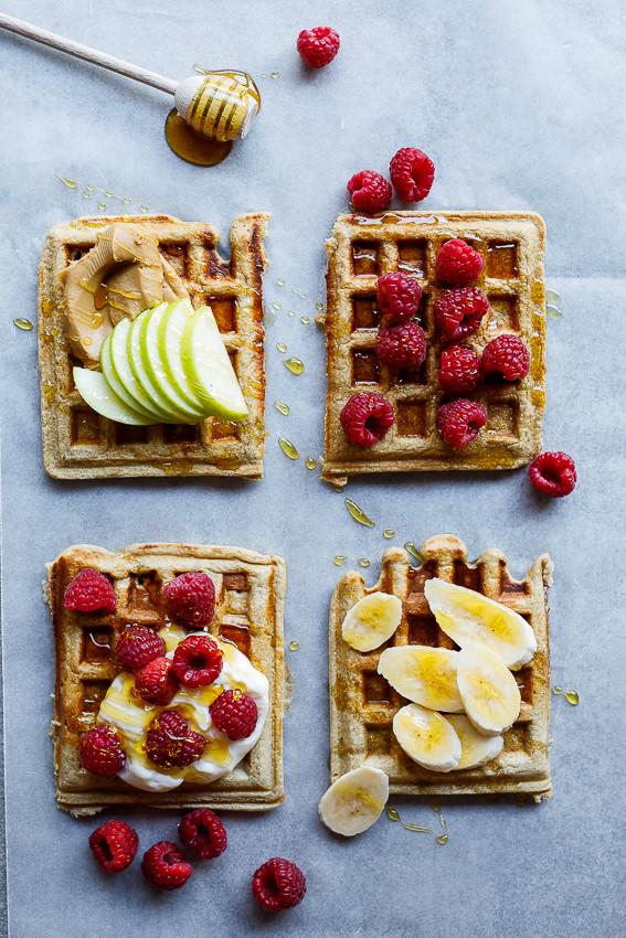 Healthy Banana Waffles  Easy healthy banana oat waffles Simply Delicious