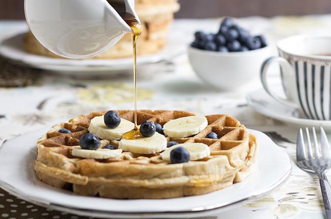 Healthy Banana Waffles  Recipe Healthy Banana Waffles