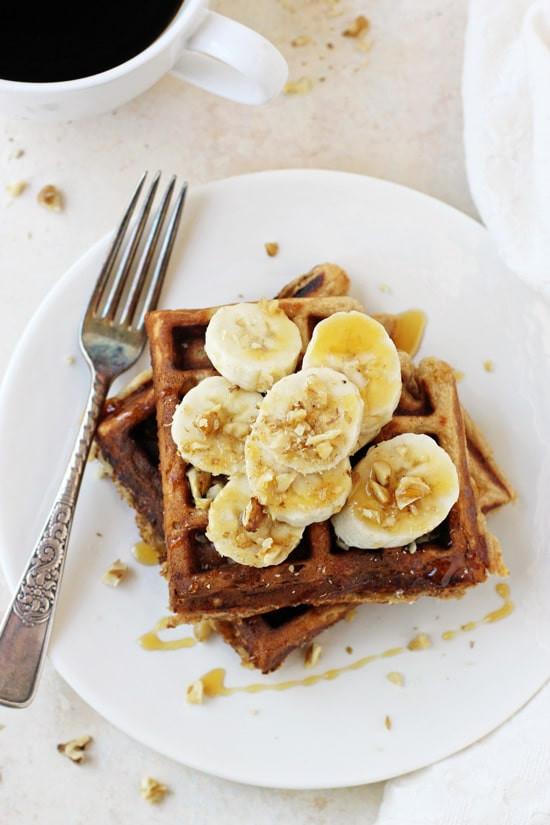 Healthy Banana Waffles  25 Healthy Make Ahead Breakfast Recipes She Likes Food