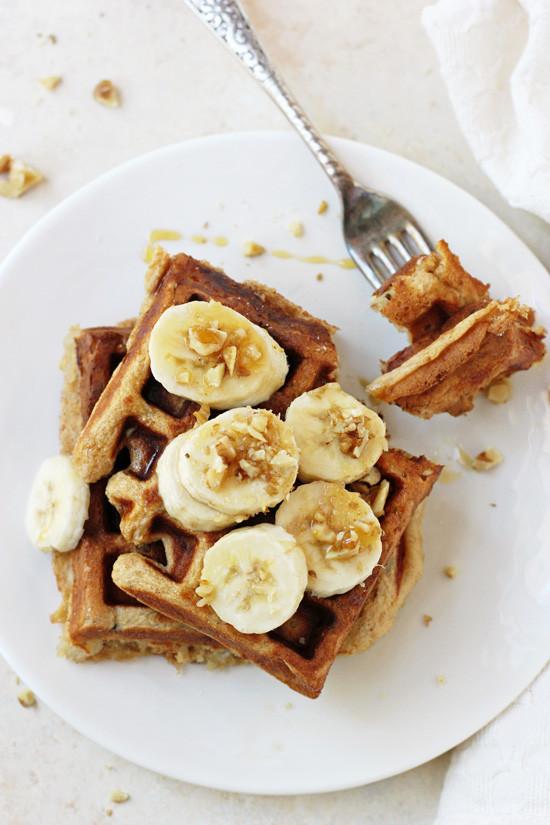 Healthy Banana Waffles  Healthy Banana Walnut Waffles Cook Nourish Bliss