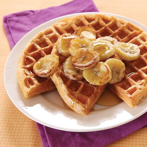 Healthy Banana Waffles  Healthy Waffle Recipe Clean Eating