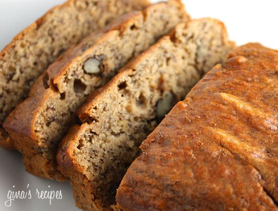 Healthy Banana Walnut Bread  Low Fat Banana Nut Bread