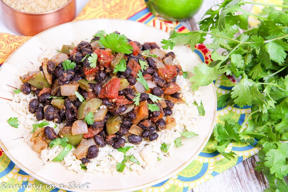 Healthy Beans And Rice Recipe  15 Minute Easy Black Beans and Rice