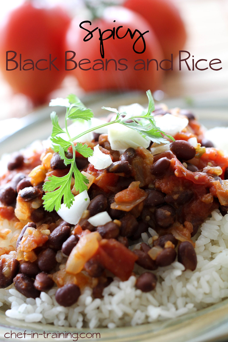 Healthy Beans And Rice Recipe  Spicy Black Beans and Rice Chef in Training