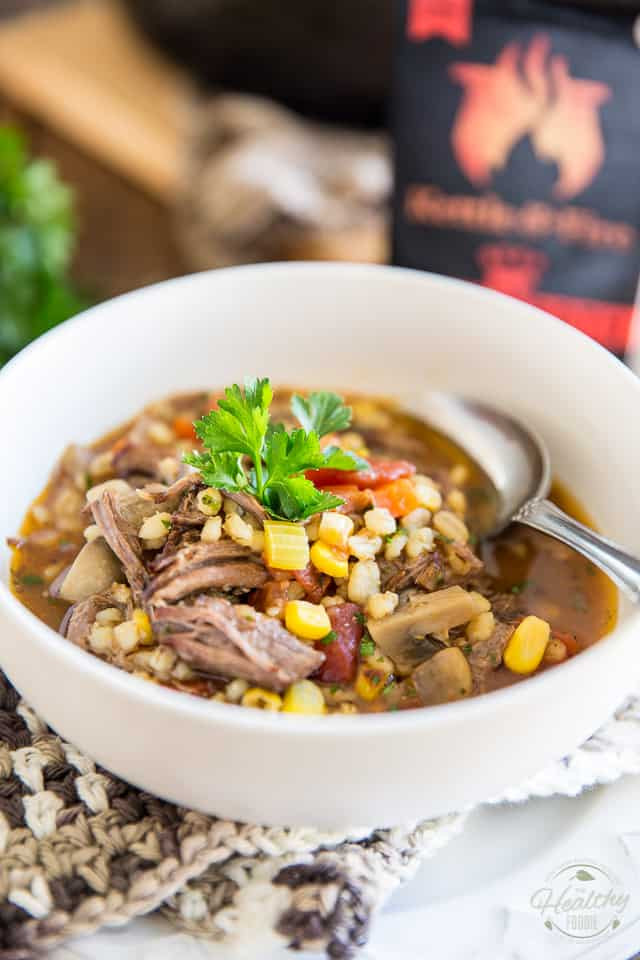 Healthy Beef Barley Soup  forting Beef and Barley Soup • The Healthy Foo