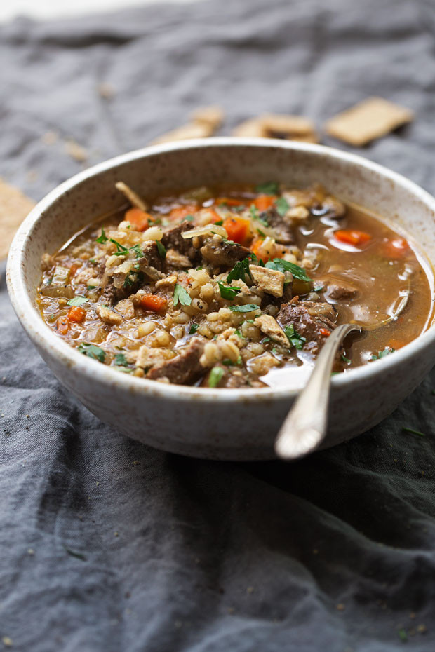 Healthy Beef Barley Soup  forting Beef Barley Soup Instant Pot Recipe