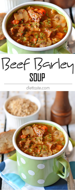 Healthy Beef Barley Soup  Beef Barley Soup