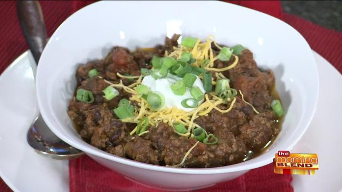 Healthy Beef Chili Recipe  A Heart Healthy Beef Chili Recipe e News Page VIDEO