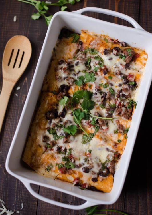 Healthy Beef Enchiladas  Ground Beef Enchiladas Recipe