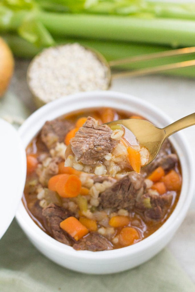 Healthy Beef Soup  Healthy Instant Pot Beef Barley Soup The Clean Eating Couple