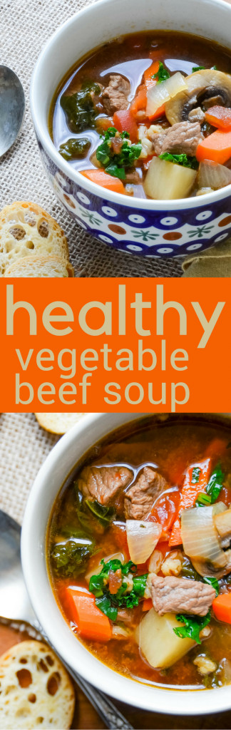 Healthy Beef Soup  Healthy Ve able Beef Soup