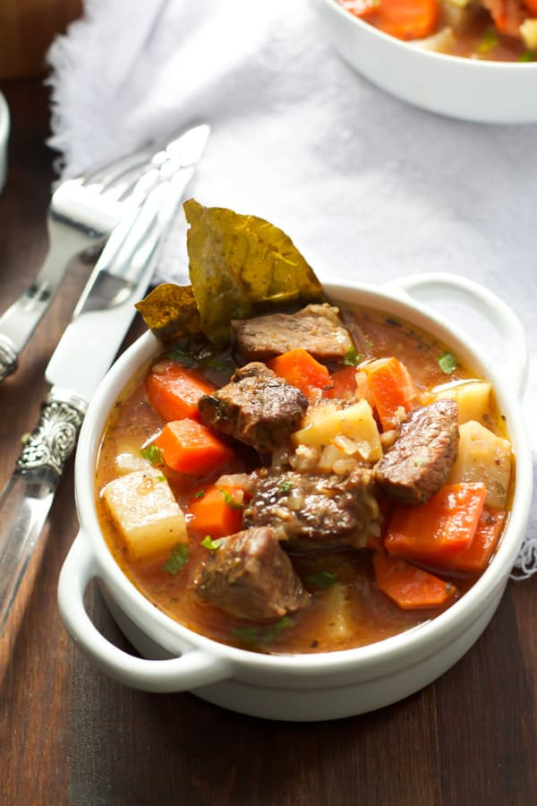 Healthy Beef Stew  Healthier Slow Cooker Beef Stew Recipe Primavera Kitchen