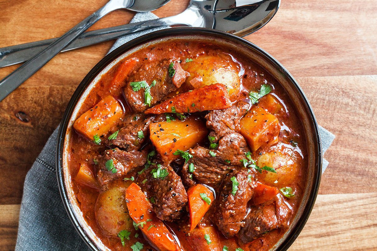 Healthy Beef Stew Recipe Slow Cooker  Slow Cooker Beef Stew Recipe with Butternut Carrot and
