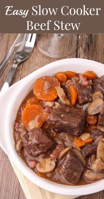 Healthy Beef Stew Recipe Slow Cooker  Easy Slow Cooker Beef Stew