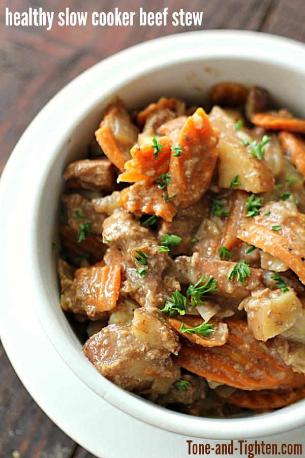 Healthy Beef Stew Recipe Slow Cooker  crock pot