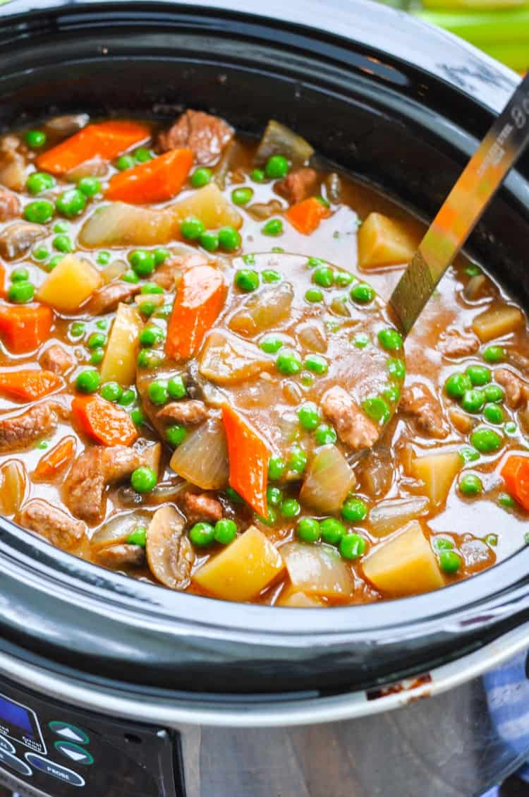 Healthy Beef Stew Recipe Slow Cooker  Farmhouse Slow Cooker Beef Stew The Seasoned Mom