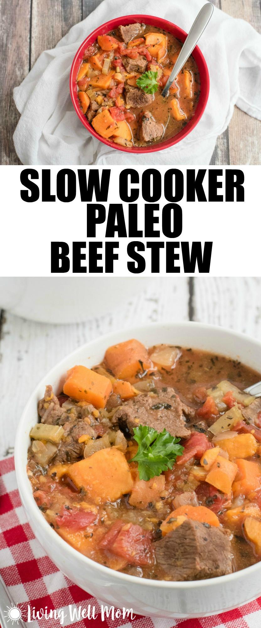 Healthy Beef Stew Recipe Slow Cooker  Slow Cooker Paleo Beef Stew Living Well Mom