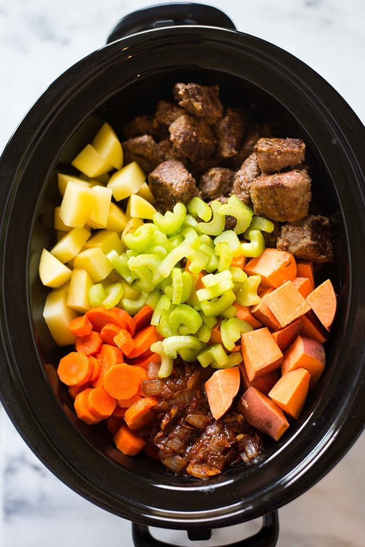 Healthy Beef Stew Recipe Slow Cooker  Healthy Slow Cooker Beef Stew Perfect Make Ahead Dinner