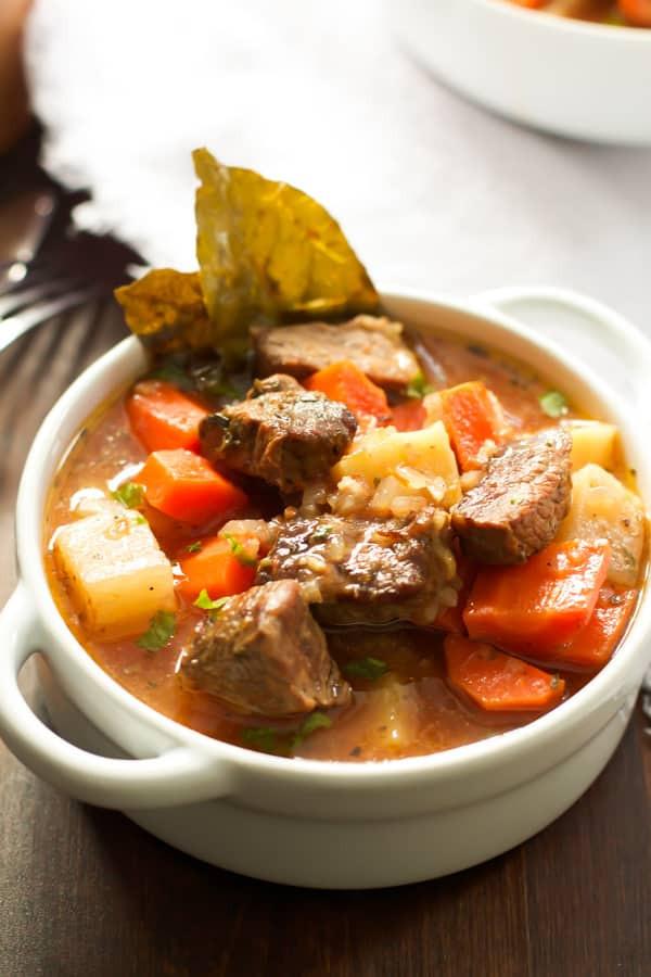 Healthy Beef Stew  Healthier Slow Cooker Beef Stew Primavera Kitchen