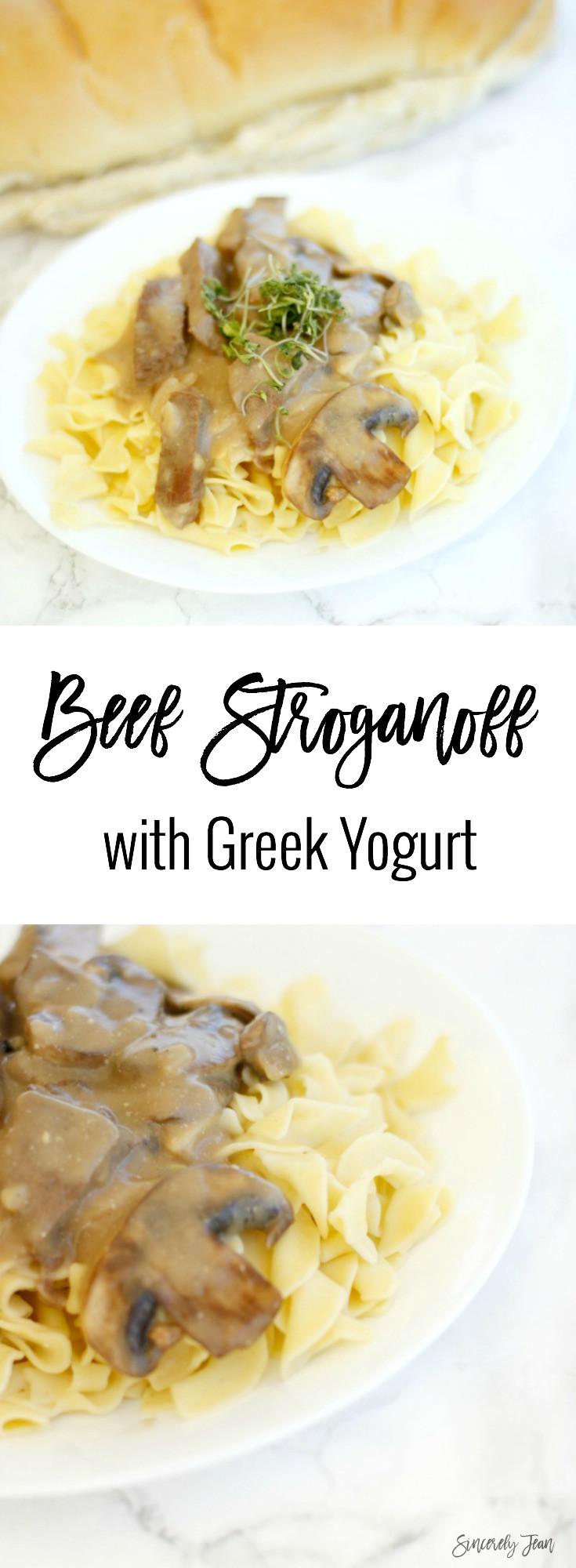 Healthy Beef Stroganoff With Greek Yogurt  Beef Stroganoff with Greek Yogurt Sincerely Jean