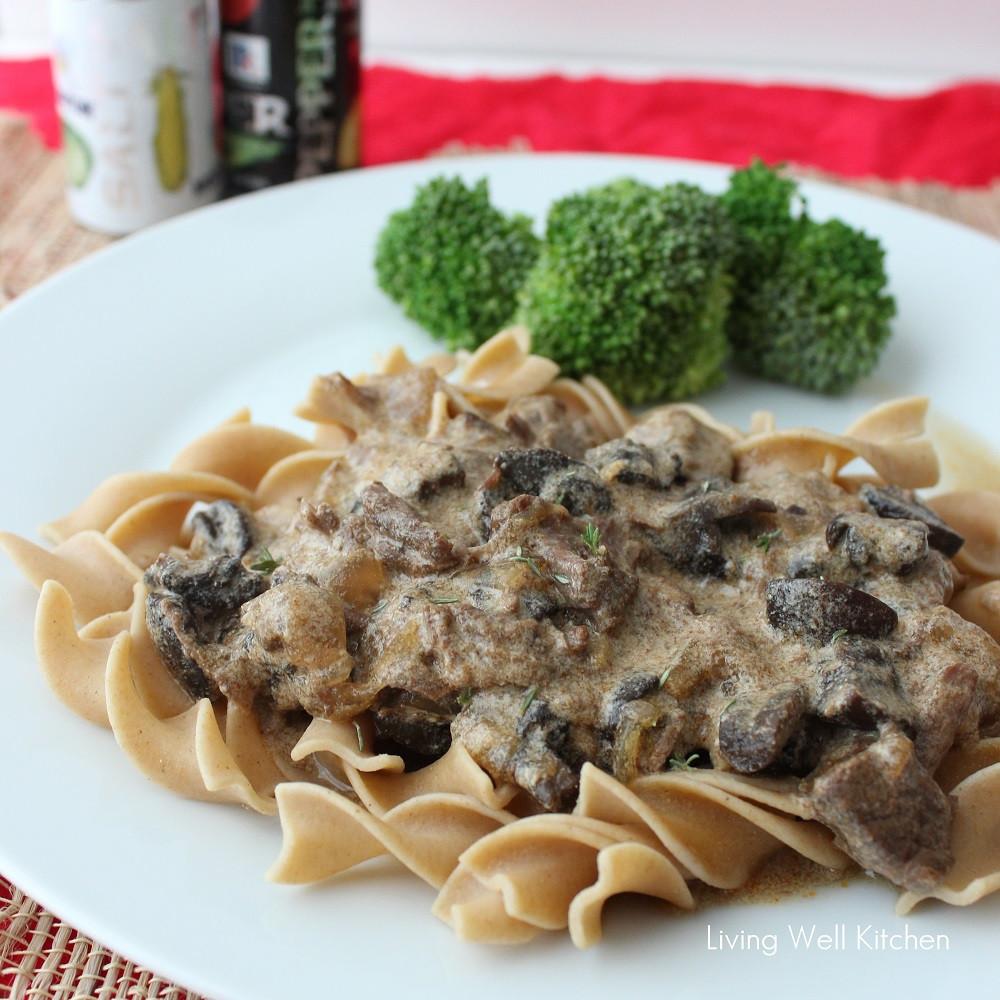 Healthy Beef Stroganoff With Greek Yogurt  Crock Pot Beef Stroganoff