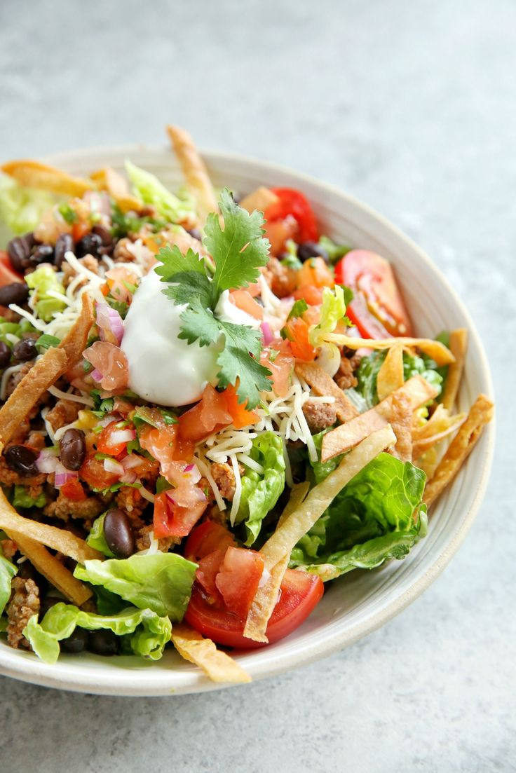 Healthy Beef Taco Salad  719 best Ground Beef Recipes images on Pinterest