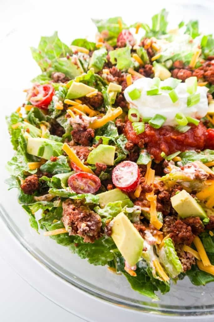Healthy Beef Taco Salad  Easy Healthy Taco Salad Recipe with Ground Beef