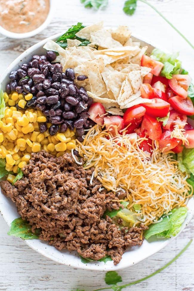 Healthy Beef Taco Salad  Taco Salad Recipes