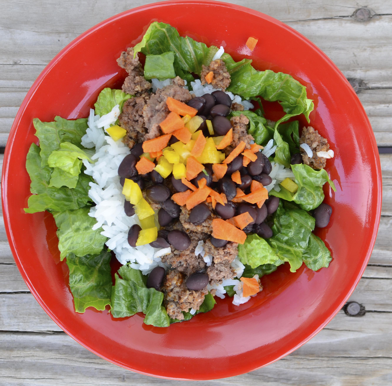 Healthy Beef Taco Salad  Black Bean & Beef Taco Salad