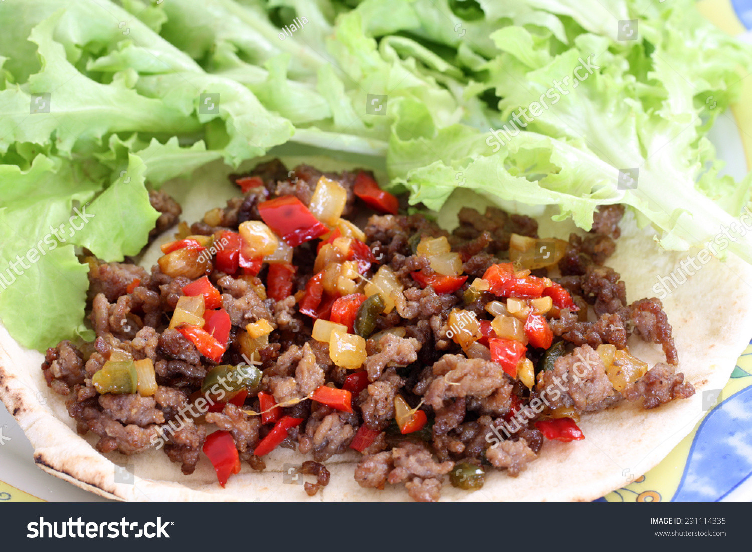 Healthy Beef Taco Salad  Healthy Eating Grilled Beef Taco Ve ables Stock