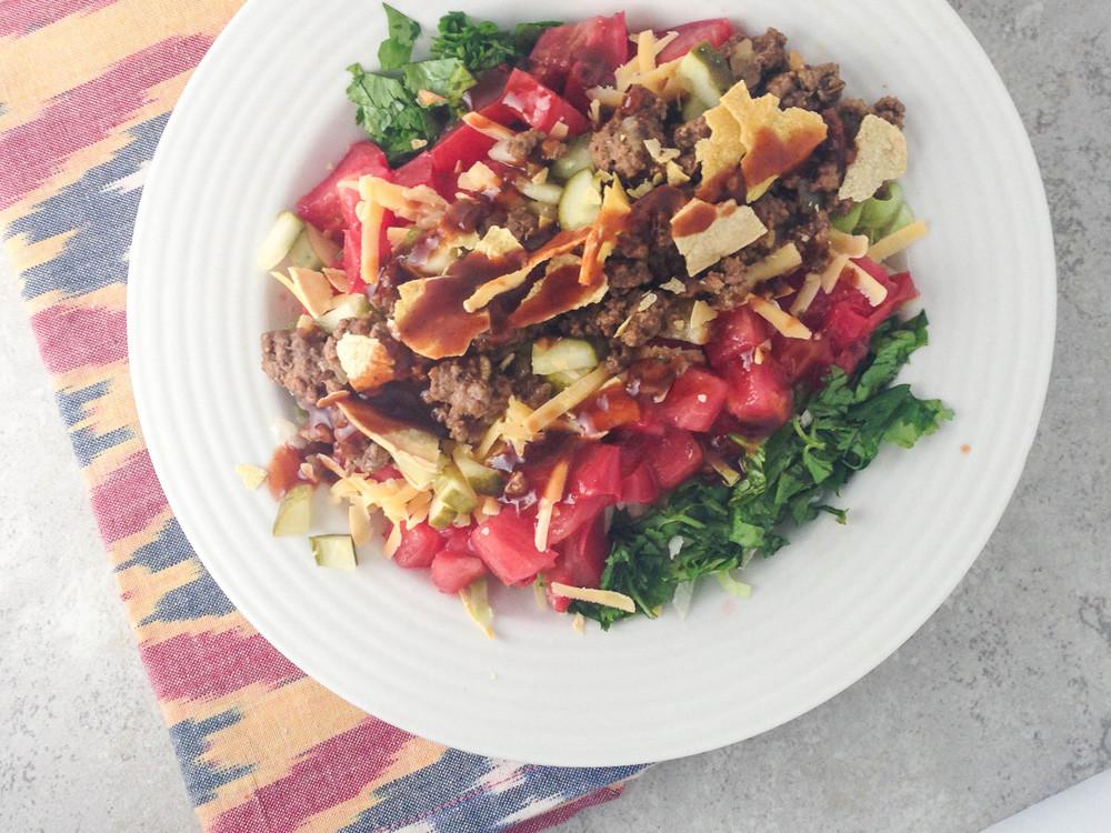 Healthy Beef Taco Salad  Taco Salad Slender Kitchen