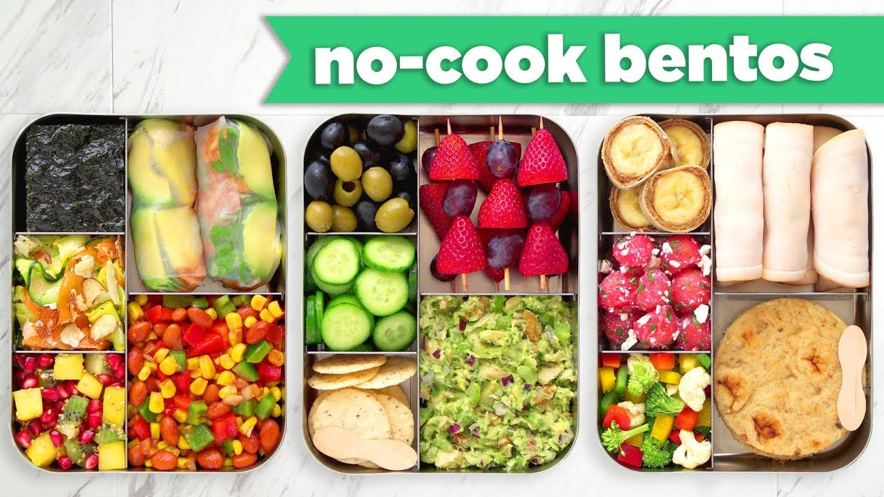 Healthy Bento Box Lunches  Back To School Healthy Bento Box Lunches– No Bake No Cook