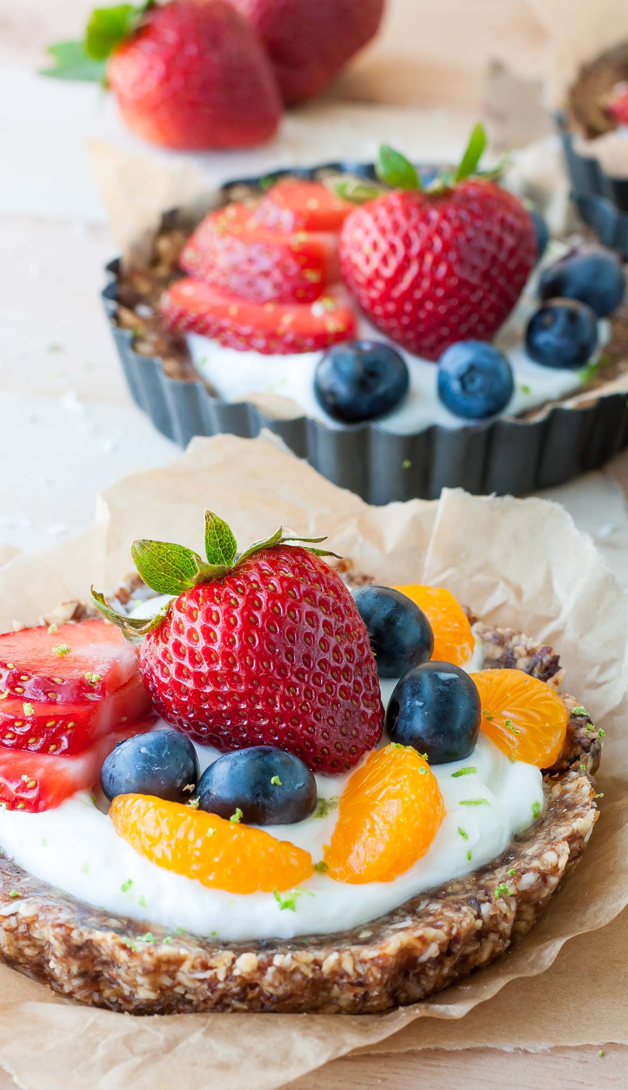 Healthy Berry Desserts  Healthy No Bake Coconut Lime Tarts with Fruit and Yogurt