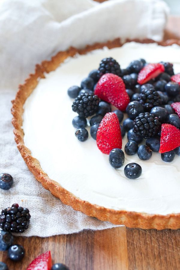 Healthy Berry Desserts  Healthy Greek Yogurt Berry Tart Recipe