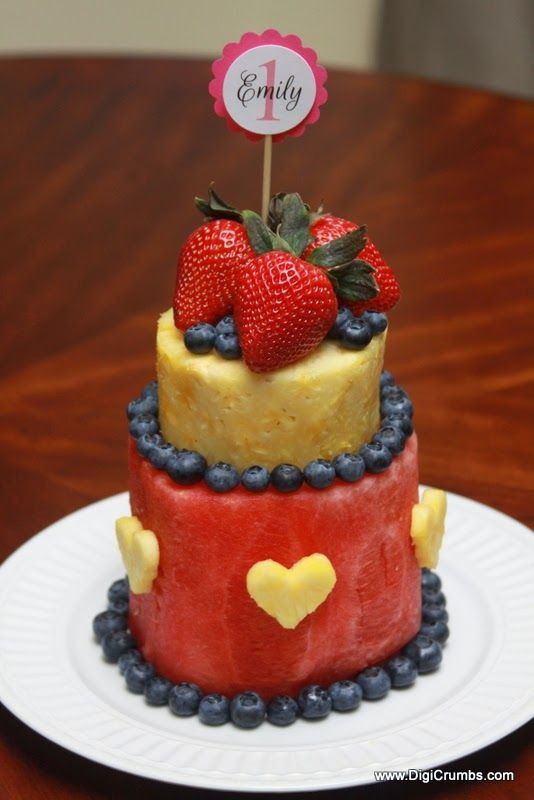 Healthy Birthday Cake Ideas  How To Make a Layered Watermelon Fruit Cake Takes less