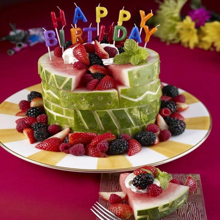 Healthy Birthday Desserts For Adults  Receta de Tortas elaboradas con frutas