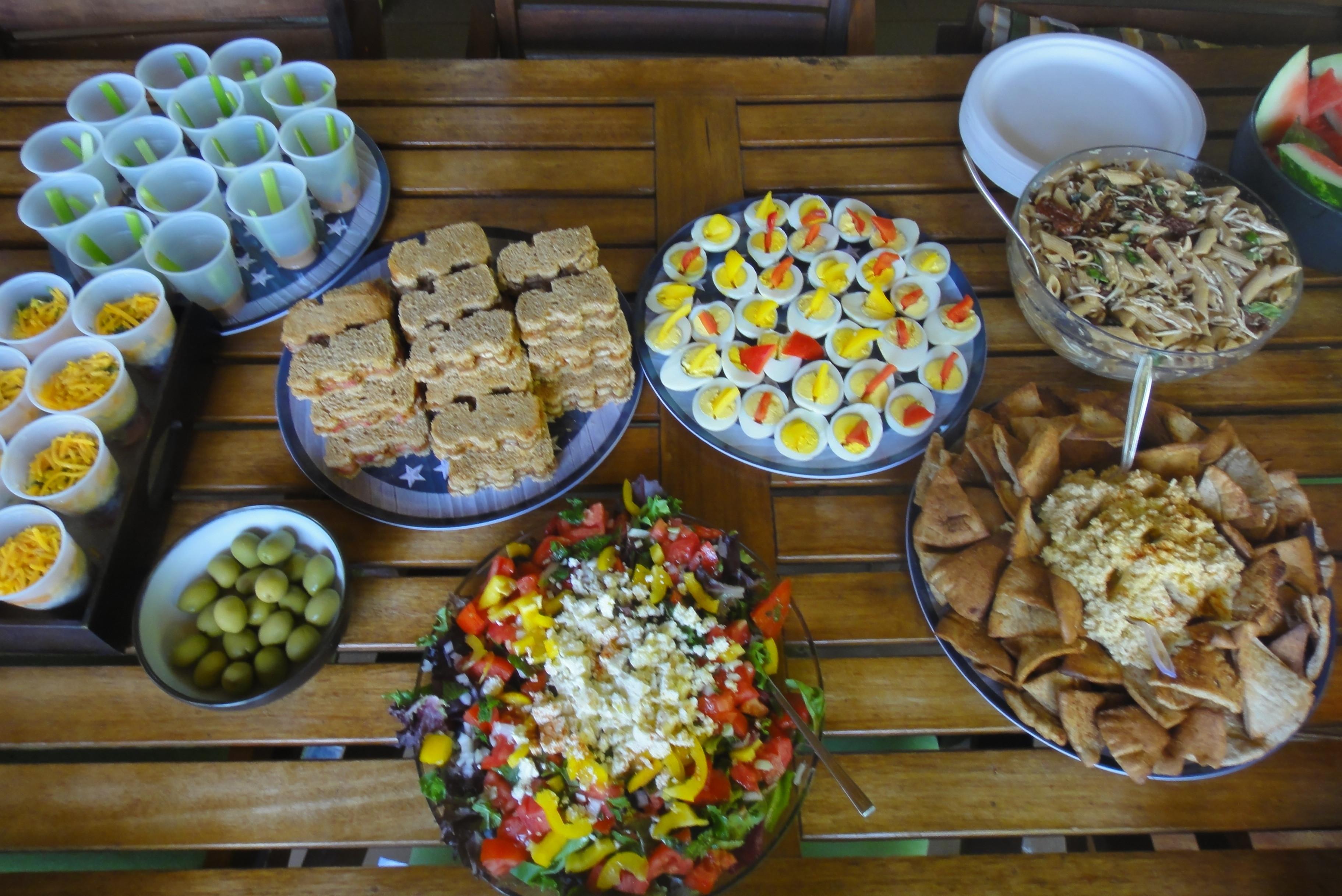 Healthy Birthday Snacks  Construction Themed Party