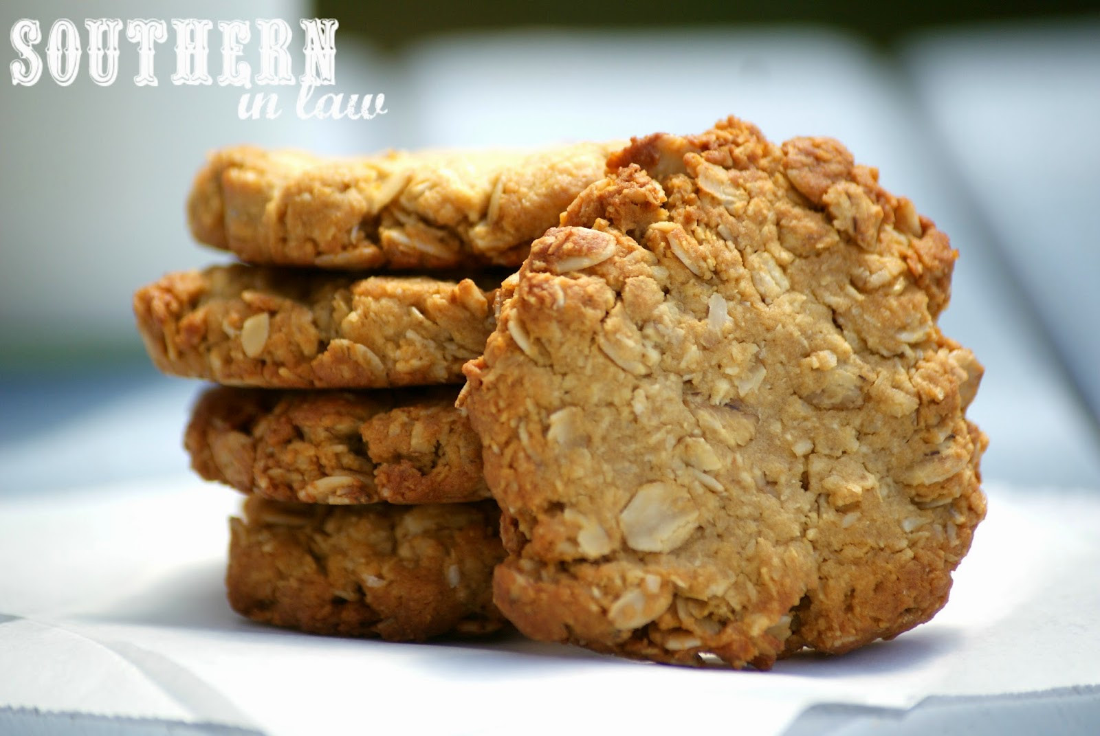 Healthy Biscuit Recipe  Southern In Law Recipe Healthier ANZAC Biscuits